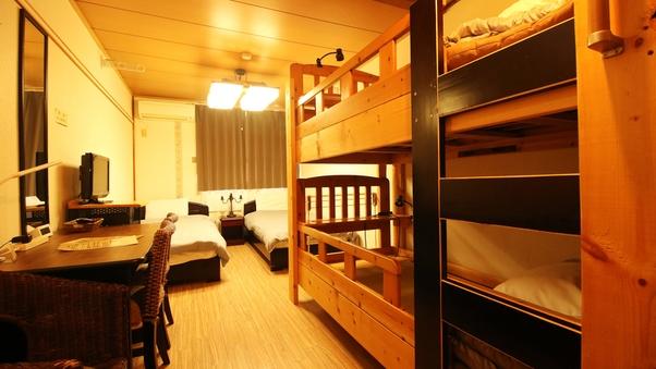 【ドミトリールーム】男女共用・ベッド4台のうちの1台
