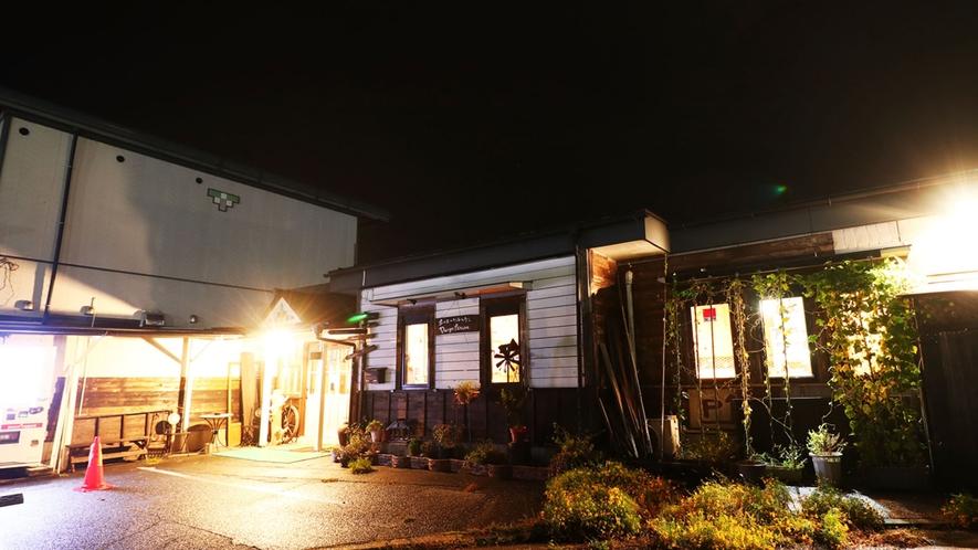 大子町中心商店街を見下ろす小高い丘の上にあるゲストハウスです。