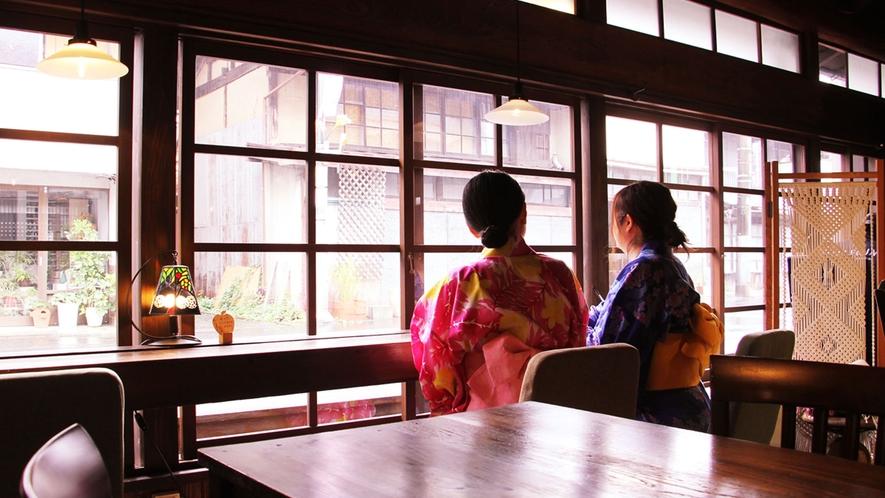 daigo cafeでは大子町の街並みを眺めながらゆったりとした時間を過ごせます。