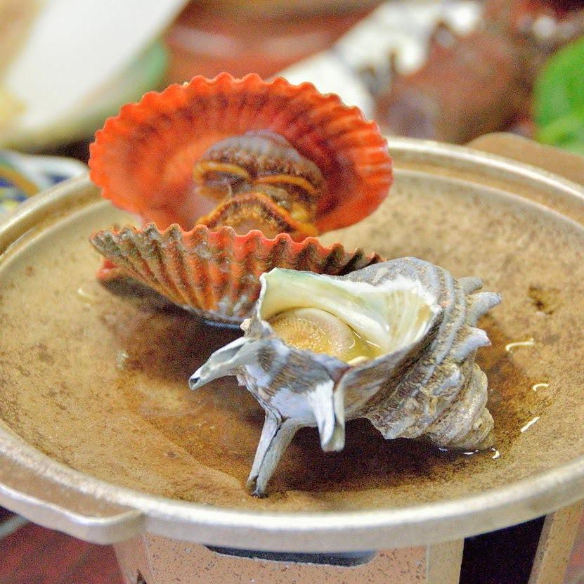 貝のホウロク焼きの