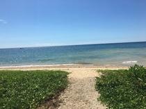 ホテル裏ビーチ