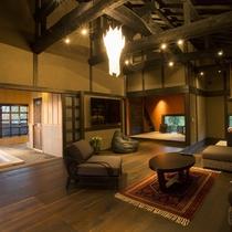 【客室/佳月】 黒川温泉で一番月に近いお部屋です。こちらのお部屋にのみ月見台をご用意しております