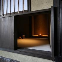 【客室/夢見】 月洸樹で唯一「茶室」が備わるお部屋です。お茶を点てる静かで至福の時間をどうぞ…