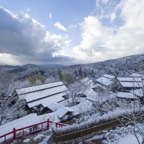 【景観】 九州ですが、冬は雪が積もる日もあります。雪化粧した風景もまた風情があります
