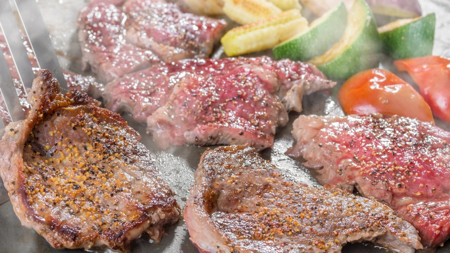 夕食 【ライブキッチン】焼きたてステーキ♪
