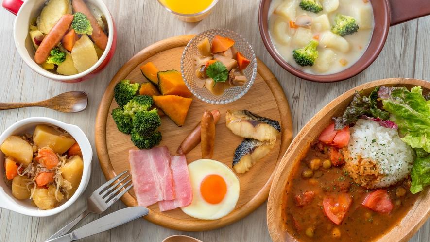 彩り豊かな朝食バイキング☆