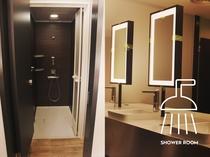 シャワールームと併設洗面台