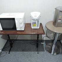 *【共有スペース】電子レンジやポットはご自由にご利用いただけます。
