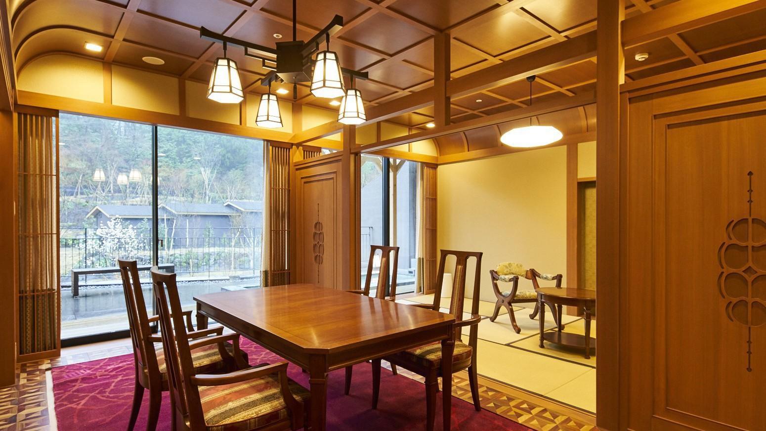 露天風呂付特別室「箱根遊山」宮ノ下 明治時代の西洋文化をイメージ