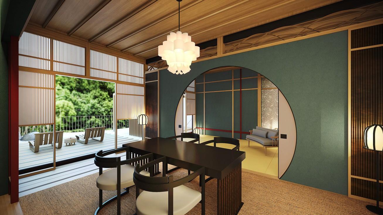 露天風呂付特別客室 箱根遊山70平米(一例)