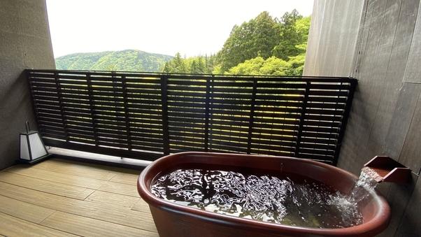 【和洋創作料理・前半のお時間】最上階露天風呂付客室(禁煙)