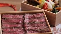 【天悠特製お弁当】お部屋までお届け致します♪夕食:国産牛ロース肉重