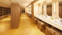 6階大浴場「浮雲の湯」洗面・脱衣所①