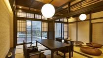露天風呂付特別室「箱根遊山」芦ノ湖 和風の水上コテージをイメージ