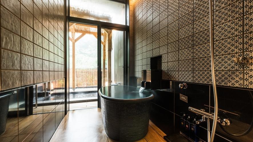 露天風呂付特別室には内湯もご用意(一例)