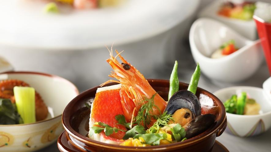 春のお料理一例 魚介のブイヤベース