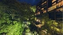 庭園(夜外観1)