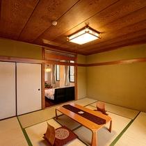*【客室・和洋室】和洋2間の広々したお部屋です。