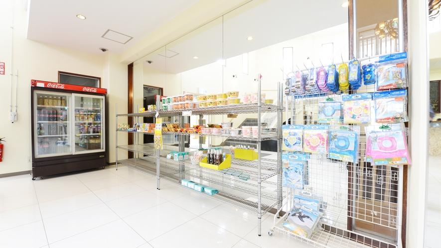 *【フロント・ロビー】ドリンク・軽食やマリングッズの販売もございます!