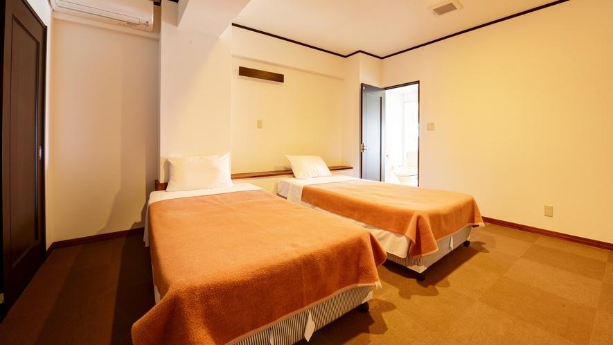 *【客室】(3LDK)ツインルーム×3室で広々!各お部屋エアコン完備です!