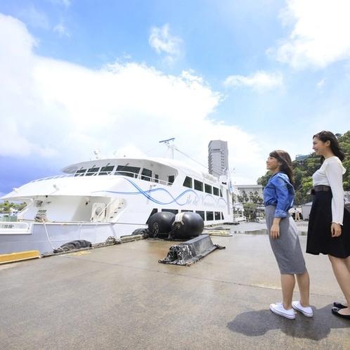 イルドバカンスプレミア船内(熱海⇔初島)