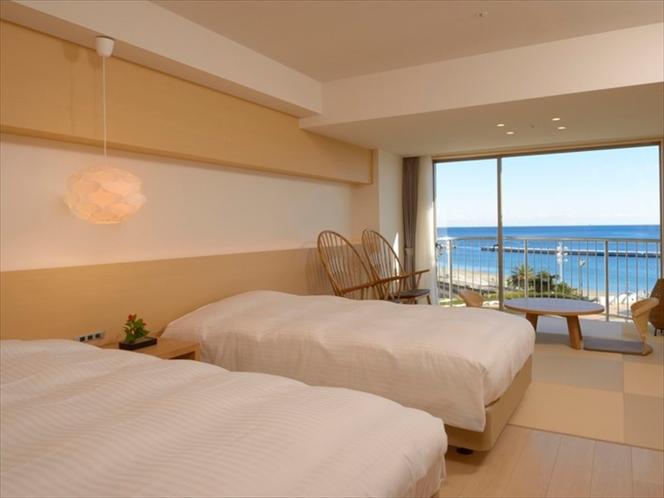 ナチュラル和洋室(5階)*客室によってベッドの配置等が異なります。