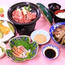 【夕食一例:6月】山口県産品の食材を使った翠会席