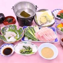 【夕食一例:7月】山口県産品の食材を使った翠会席