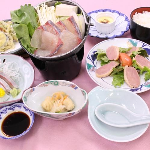 【夕食一例】1月山口県産品の食材を使った翠会席
