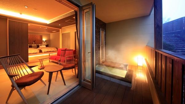 【離れ】Type-S 温泉露天風呂+和リビング+寝室 ※禁煙