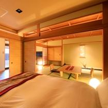 【本館】温泉半露天風呂付 和室キングベッド