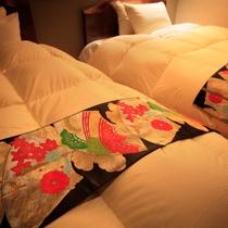 一点物アンティック帯ベッドスロー~伝統の美~