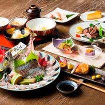 お食事|大分が誇るブランド魚、関サバの姿造りに舌鼓!※イメージ