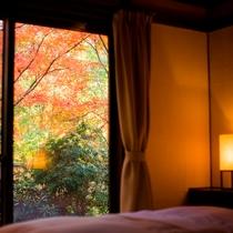 お部屋|お部屋からも秋を感じることができます。