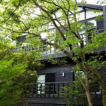 客室|【別館】ロッジ風の宿泊棟には3つのお部屋。