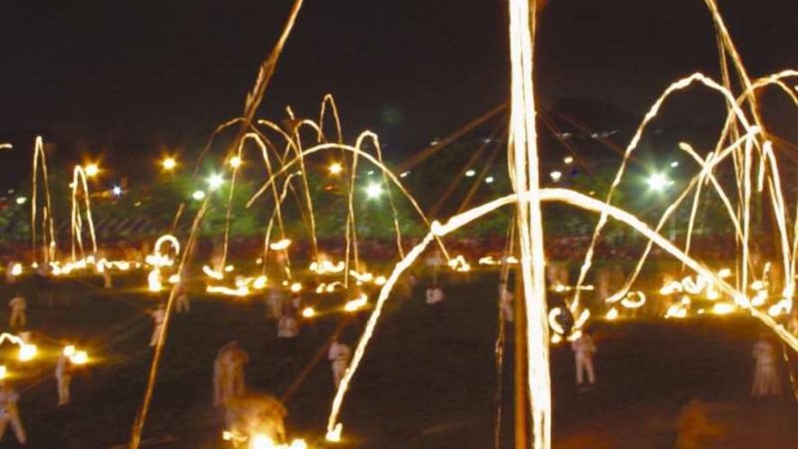 【ななせ火群まつり】万灯籠、竹燈篭に彩られた炎の祭典。ステージイベントや花火大会なども開催されます
