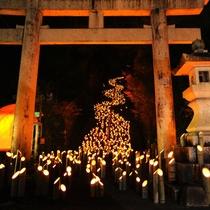 【周辺観光】たけた竹灯籠 竹楽