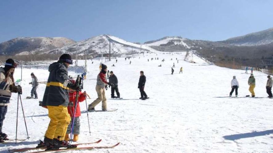 【九重森林公園スキー場】九重連山や阿蘇五岳の大パノラマを楽しめるスキー場です。