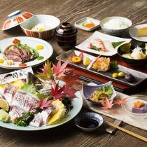 お食事|大分が誇るブランド魚、関アジの姿造りに舌鼓!※イメージ