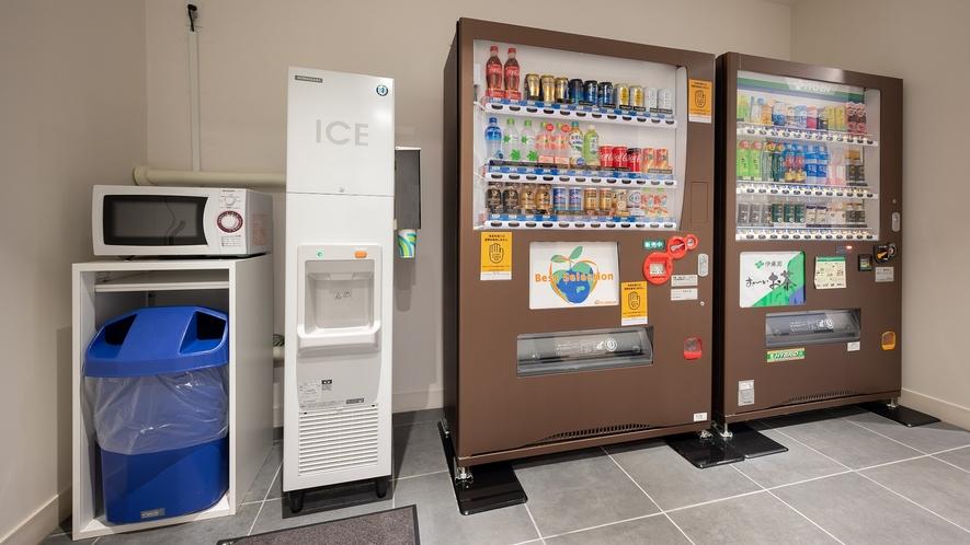 電子レンジ、製氷機、自動販売機(4階)