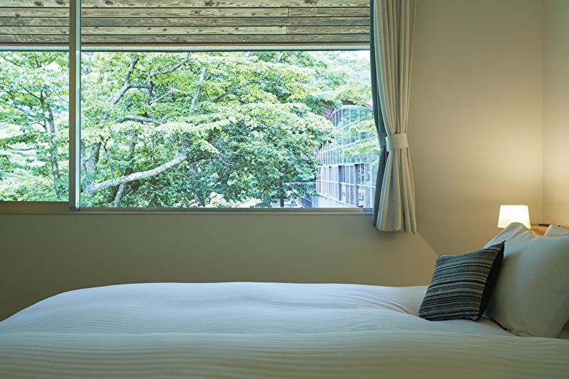 デラックスダブル【薪ストーブ付】54平米 ベッドルーム