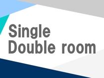 シングル/ダブルルーム:17.6㎡/ベッドサイズ140cm