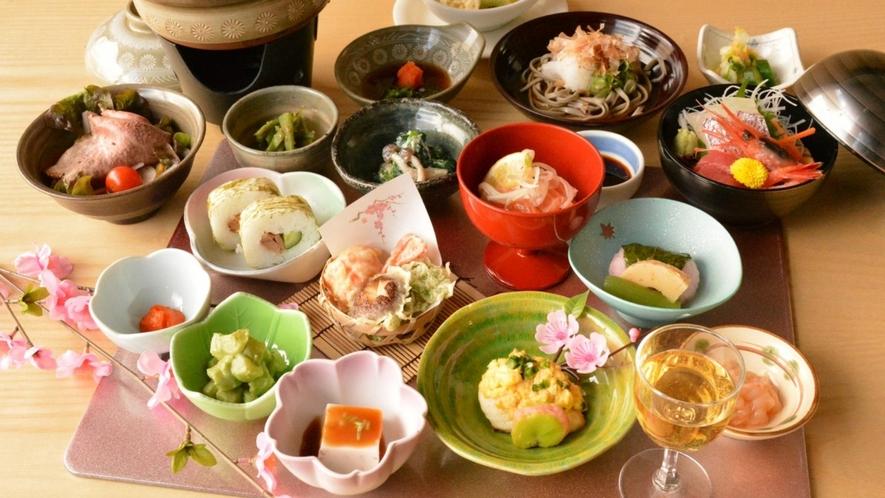 新鮮な食材をふんだんに使用した御膳をお楽しみください。