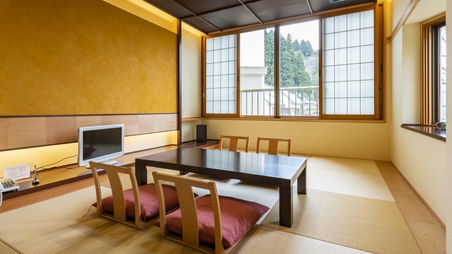 モダン和室は2018年リニューアル。洗練された和の空間をお楽しみ頂けます。