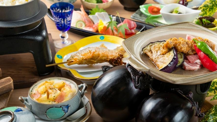 【夏霧会席】吉川なすや自家製じゃがいもなど福井の夏野菜を堪能!