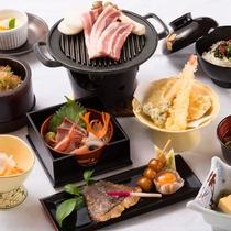【2017夏*薄墨膳一例】河和田の地物をふんだんに使用した和食膳です