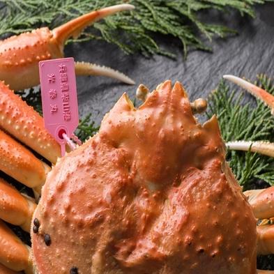 蟹だけじゃない!【冬の旬替り会席】茹で松葉蟹・あわびバター焼・但馬牛ステーキ付きプラン