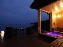 1階客室<山san>天然温泉の露天風呂
