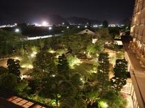 夜景 庭園