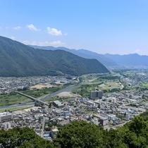 荒砥城からの上山田眺望